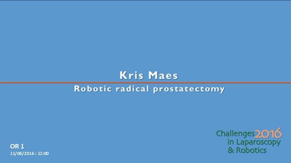 CILR 2016 – Kris Maes – Robotic radical prostatectomy
