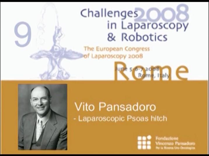 CILR 2008 – Vito Pansadoro – Laparoscopic psoas hitch
