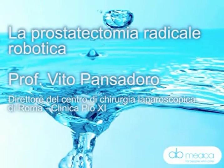 Il Prof. Pansadoro e la prostatectomia radicale robotica